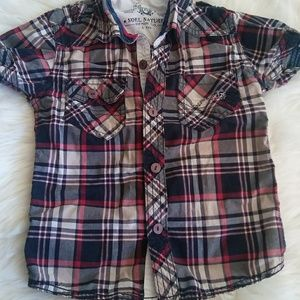 Other - 5t plaid button up shirt
